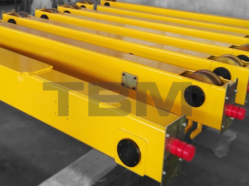 End Carriages for Single Girder Cranes/conductor system